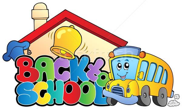 De volta à escola tópico edifício escolas projeto educação Foto stock © clairev