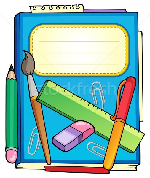 школы блокнот канцтовары служба дизайна образование Сток-фото © clairev