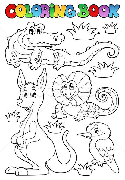 Coloring book Australian fauna 2 Stock photo © clairev