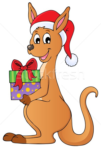 Christmas kangaroo theme image 1 Stock photo © clairev