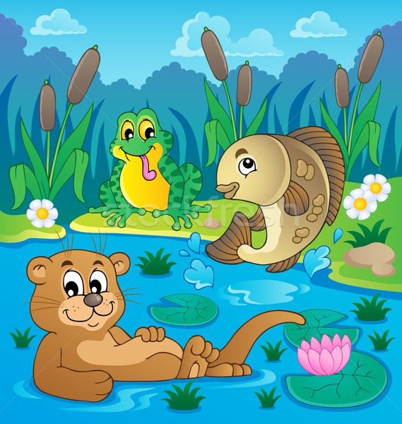 River fauna theme image 2 Stock photo © clairev