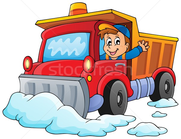 Snow plough theme image 1 Stock photo © clairev