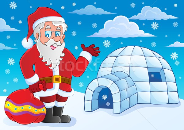 Igloo with Santa Claus theme 4 Stock photo © clairev