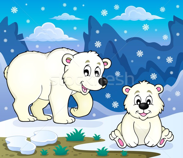 Polar bears theme image 3 Stock photo © clairev