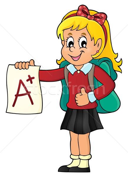 Schoolmeisje glimlach school student onderwijs Stockfoto © clairev