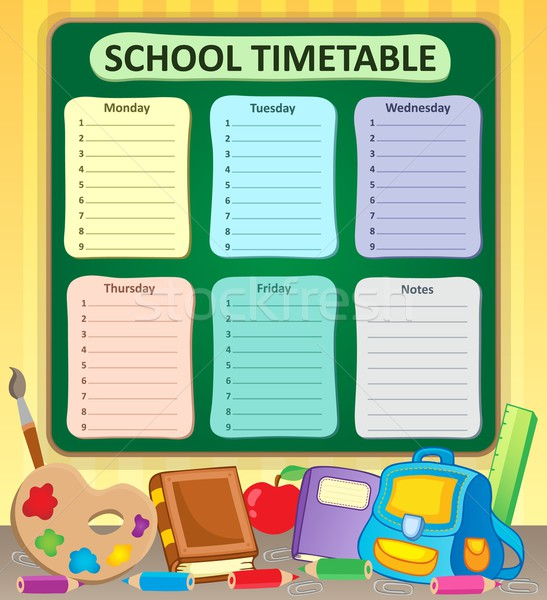Weekly school timetable topic 6 Stock photo © clairev