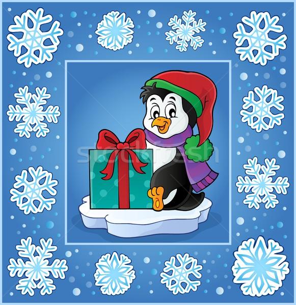 Christmas subject greeting card 9 Stock photo © clairev