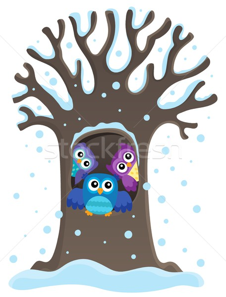 Owl tree theme image 1 Stock photo © clairev