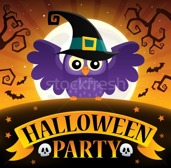 Halloween party sign composition image 3 Stock photo © clairev