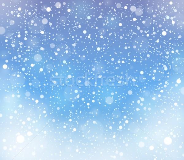 Absztrakt hó téma természet háttér tél Stock fotó © clairev