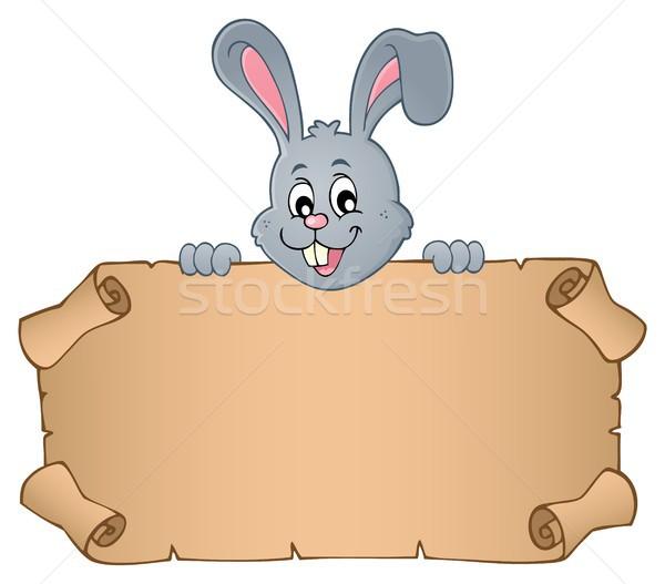 Easter bunny pergamin papieru królik głowie rysunek Zdjęcia stock © clairev