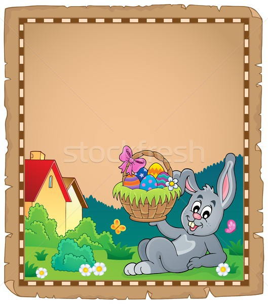 Parchment with Easter bunny topic 2 Stock photo © clairev