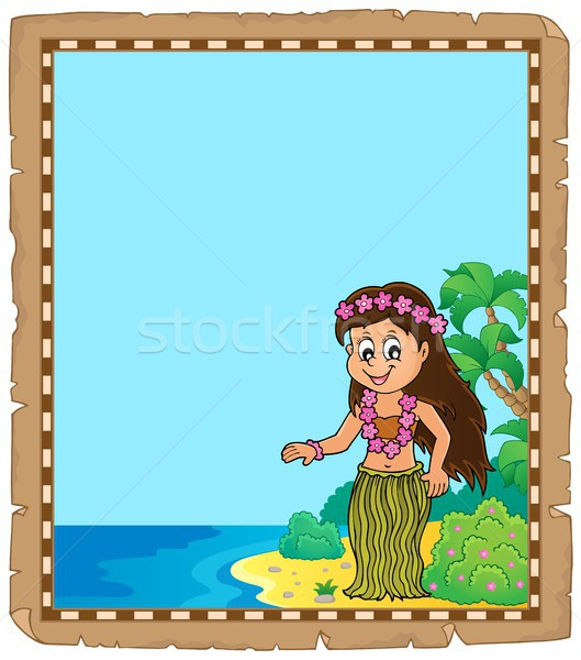 Parchment with Hawaiian theme dancer Stock photo © clairev