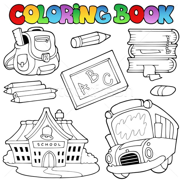 Coloring book school collection 1 Stock photo © clairev