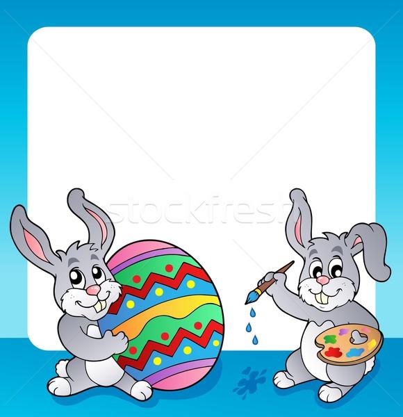 кадр Пасхальный заяц тема Пасху весны кролик Сток-фото © clairev