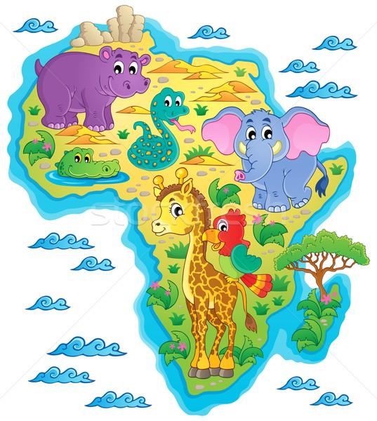 Africa map theme image 1 Stock photo © clairev