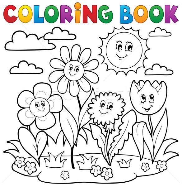 Boyama Kitabi Cicek Cicekler Bahar Gulumseme Kitap