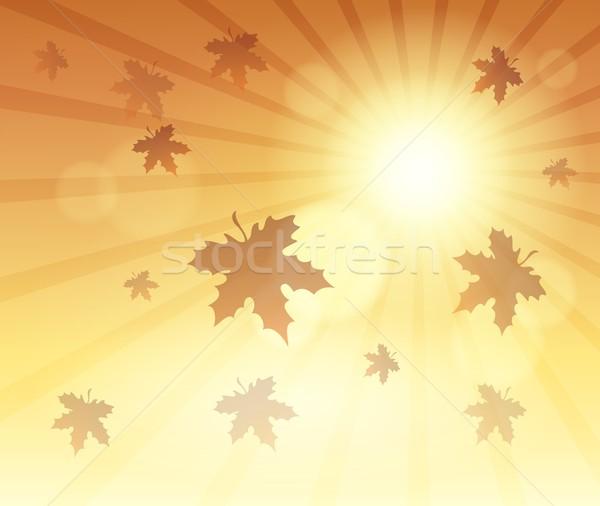 осень небе солнце лист фон листьев Сток-фото © clairev