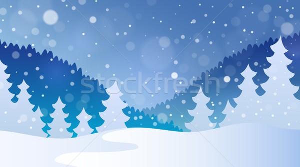 Winter theme landscape 4 Stock photo © clairev