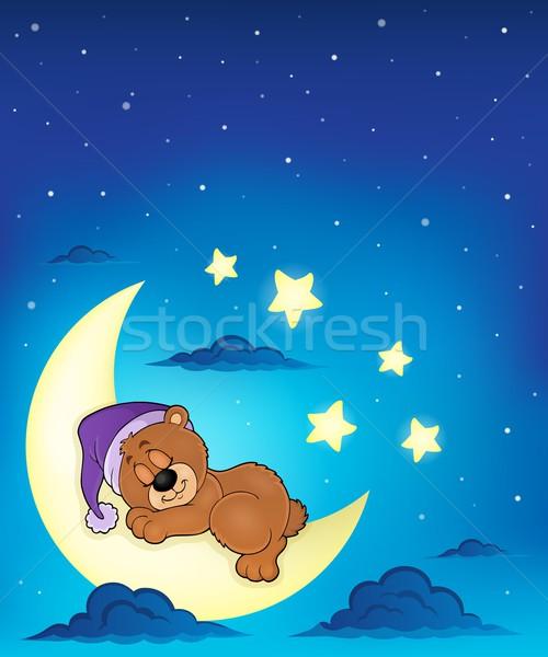 Детские картинки мишка на луне