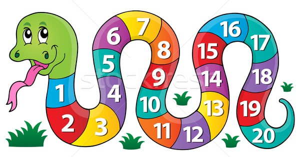 Snake with numbers theme image 1 Stock photo © clairev