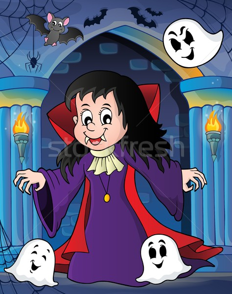 Vampire girl theme image 2 Stock photo © clairev