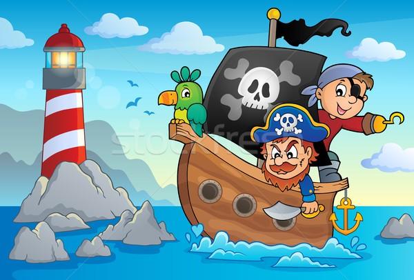 Pirate boat theme 3 Stock photo © clairev