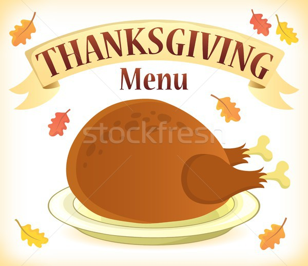 Thanksgiving menu theme image 7 Stock photo © clairev