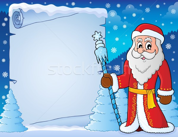 Father Frost theme parchment 4 Stock photo © clairev