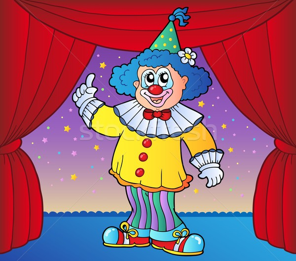 Clown on circus stage 2 Stock photo © clairev