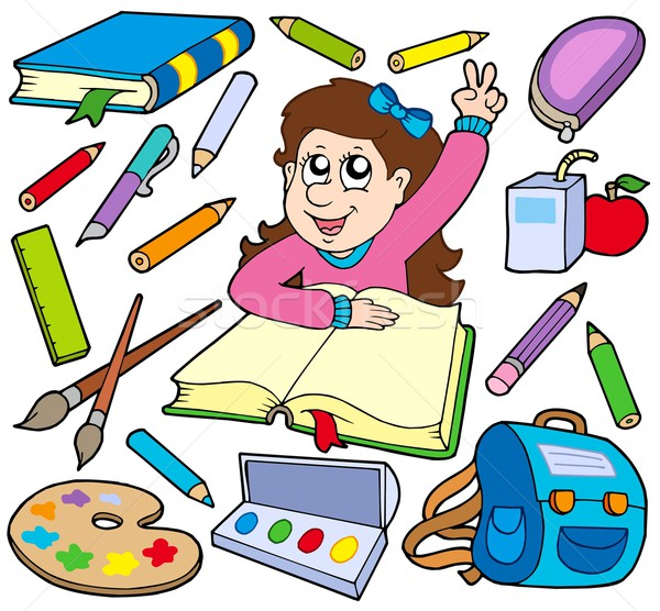 Back to school collection 3 Stock photo © clairev