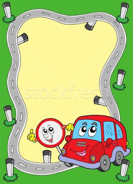 дороги кадр Cute автомобилей глаза счастливым Сток-фото © clairev