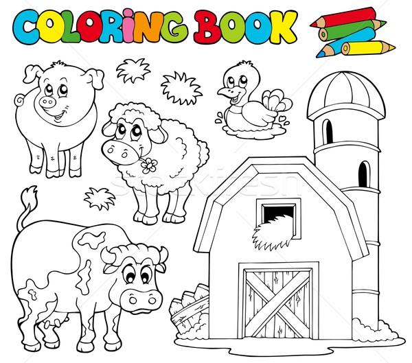 Boyama Kitabi Ciftlik Hayvanlari Doga Sanat Inek