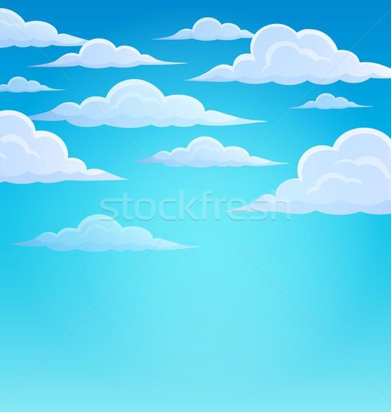 Nuages ciel design météorologiques lumineuses naturelles Photo stock © clairev