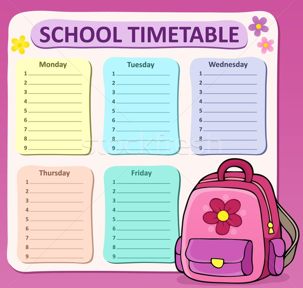 Weekly school timetable composition 8 Stock photo © clairev