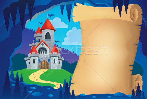 Parchment in fairy tale cave image 1 Stock photo © clairev