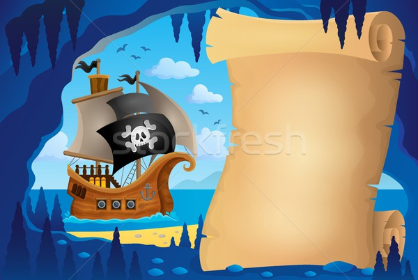 Parchment in pirate cave image 3 Stock photo © clairev