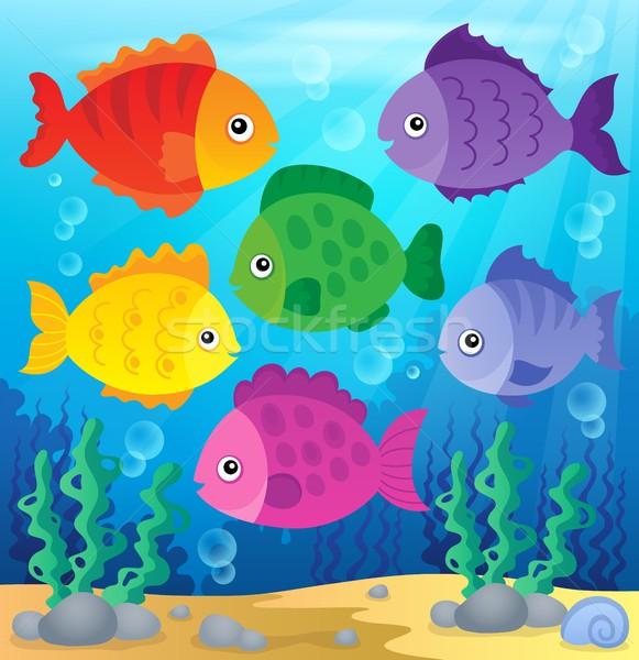 Stylized fishes theme image 2 Stock photo © clairev