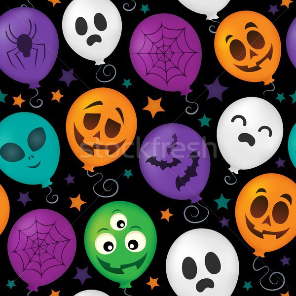Halloween balloons seamless background 1 Stock photo © clairev