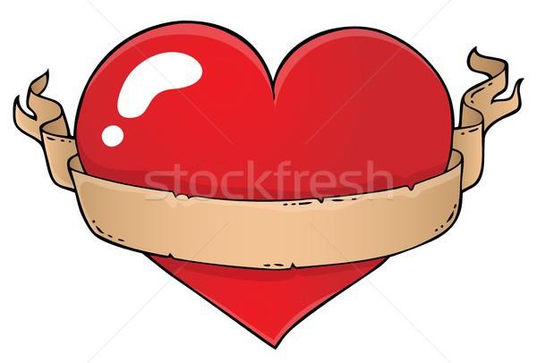 Valentin coeur sujet image papier amour Photo stock © clairev