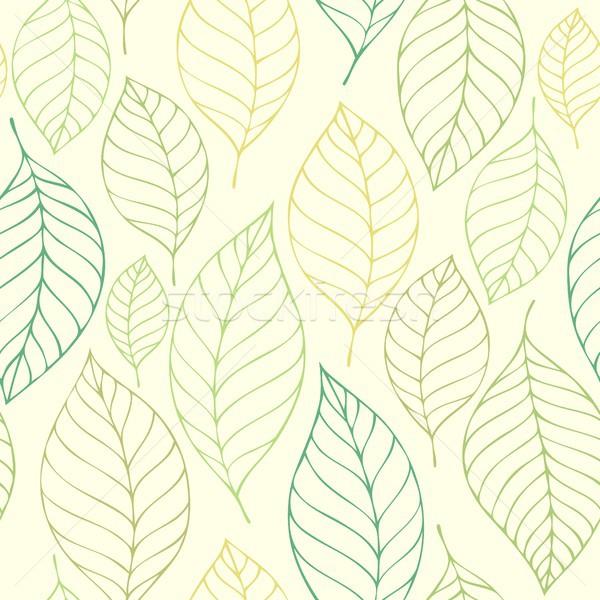 Leafy seamless background 7 Stock photo © clairev