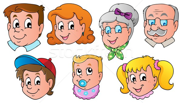 Family faces theme image 1 Stock photo © clairev