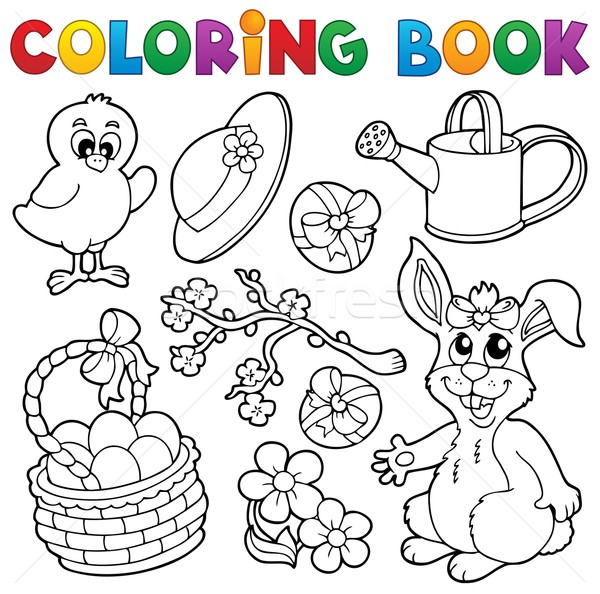 Coloring book with Easter theme 6 Stock photo © clairev