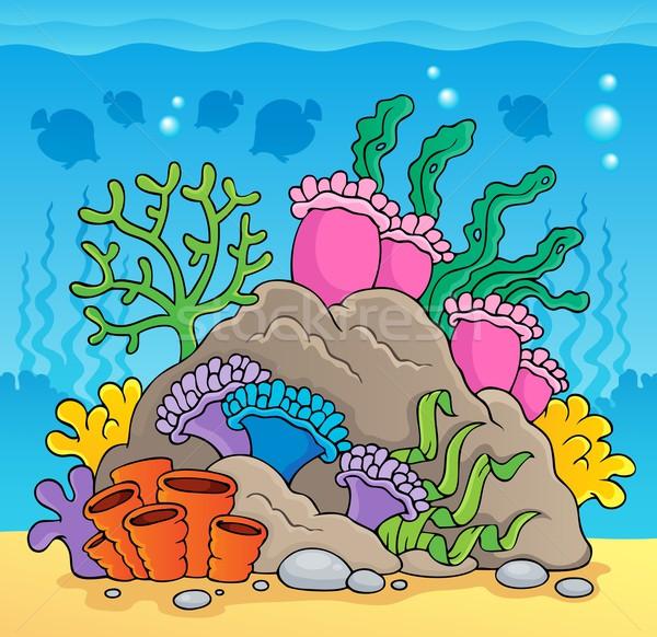 Korallzátony kép természet tenger művészet levelek Stock fotó © clairev