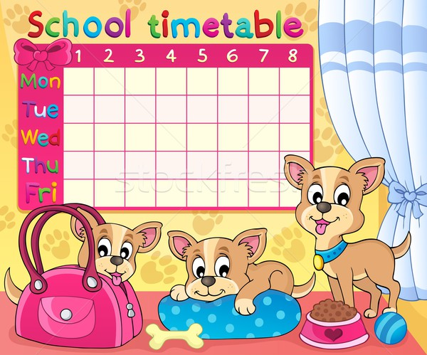 School timetable thematic image 5 Stock photo © clairev