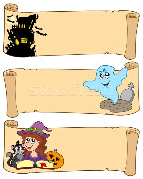 Halloween banner collection 3 Stock photo © clairev