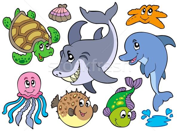 Happy sea animals collection Stock photo © clairev