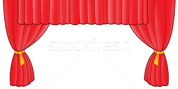 Red theatre curtain Stock photo © clairev