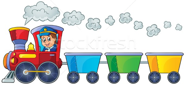 Train with three empty wagons Stock photo © clairev