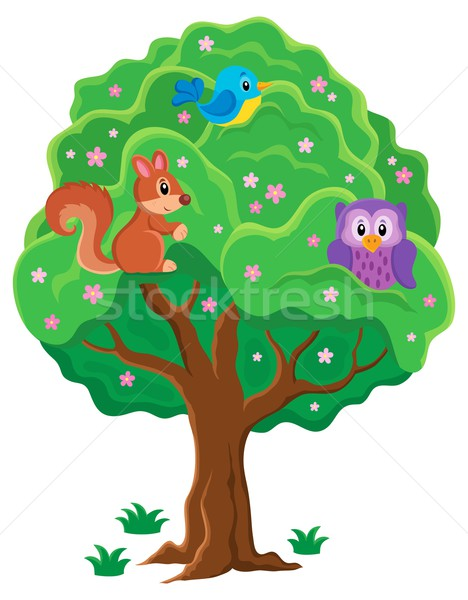 Springtime tree topic image 1 Stock photo © clairev